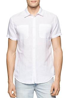 Calvin Klein Jeans Skip Stripe Linen Shirt