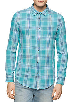 Calvin Klein Jeans Long Sleeve Doubleweave Plaid Shirt