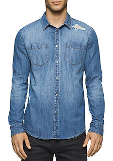 Calvin Klein Jeans Essential Blue Denim Shirt
