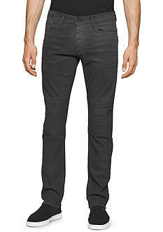 Calvin Klein Jeans Slim Fit Greased Wash Moto Jeans