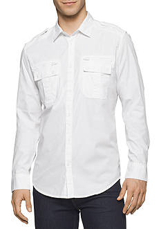 Calvin Klein Jeans Modern Long-Sleeve Military Shirt