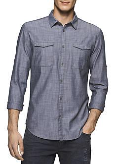 Calvin Klein Jeans Herringbone Military Shirt