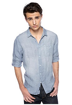 Calvin Klein Jeans Light Wash Linen Woven Shirt