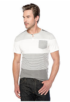 Calvin Klein Jeans Stripe Color Block Henley