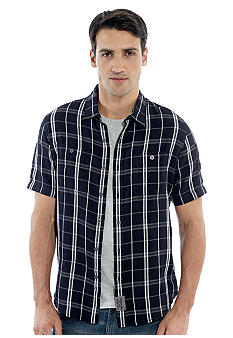 Calvin Klein Big & Tall Graphic Plaid Woven