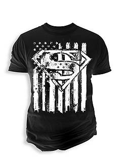 Changes Superman Flag Chalk Tee