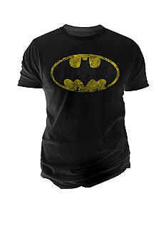Changes Distressed Batman Logo Graphic Tee