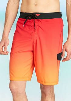 Speedo 11-in. Engineered Ombre Cargo Board Shorts