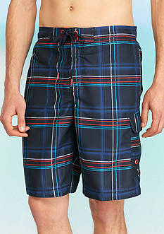 Speedo 11-in. Airbrush Stripe Cargo Board Shorts