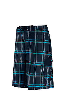 Speedo Classic Plaid E-Board Swim Trunk