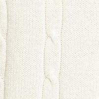 Mens Crew Neck Sweaters: Cream Saddlebred Cable Sweater