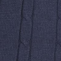 Mens Crew Neck Sweaters: Indigo Heather Saddlebred Cable Sweater