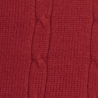 Mens Crew Neck Sweaters: Red Saddlebred Cable Sweater