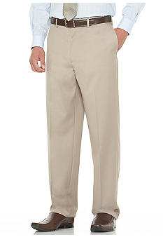 Savane® Gabardine Flat Front Comfort Dress Pants