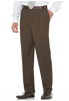 Savane Gabardine Pleated Comfort Dress Pants