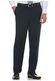Savane Deep Dye Microfiber Gab Flat Front Dress Pants