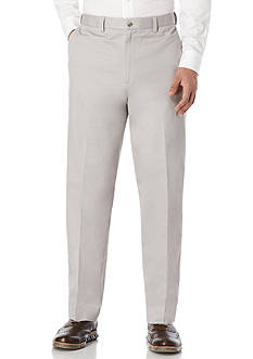 Savane Straight-Fit Flat-Front Performance Comfort Waist Chino Pants