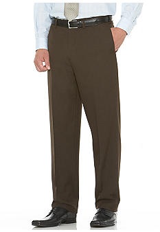Savane Straight Fit Herringbone Flat Front Dress Pants