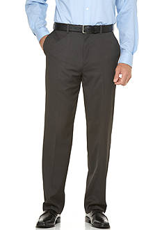 Savane Straight-Fit Micro-Tech Flat-Front Non-Iron Pants