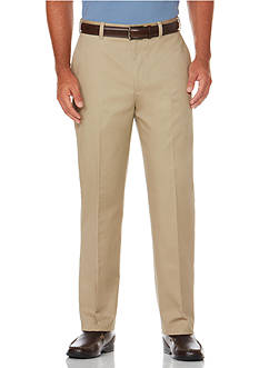 Savane® Straight-Fit Micro-Tech Flat-Front Non-Iron Pants