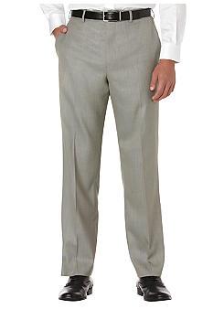 Savane® Straight-Fit Sharkskin Flat-Front Non-Iron Pants