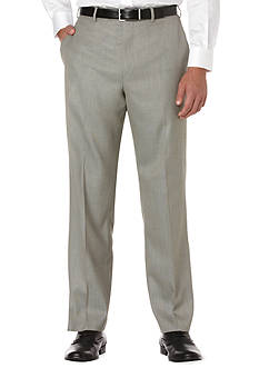 Savane Big & Tall Straight-Fit Sharkskin Flat-Front Non-Iron Dress Pants