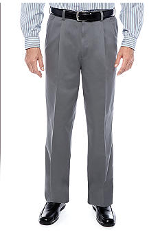 Savane® Super Soft Performance Pleated Chino Pants