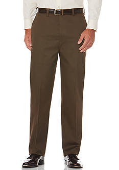 Savane® Straight-Fit Flat-Front Wrinkle-Resistant Pants