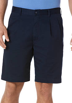 Savane Eco-Start 8-in. Twill Pleated Shorts