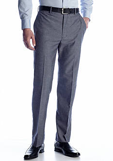 Savane® Classic-Fit Linen Flat-Front Non-Iron Dress Pants
