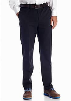 Savane® Straight-Fit Eco-Start Flat-Front Wrinkle-Resistant Pants