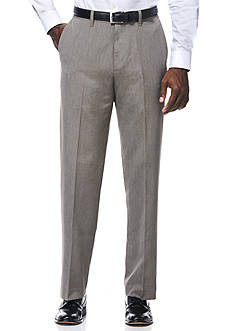 Savane Travel Intelligence Classic Fit Taupe Pinstripe Suit Separate Pants