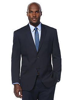 Savane Classic Fit Travel Intelligence Navy Pinstripe Suit Separate Jacket