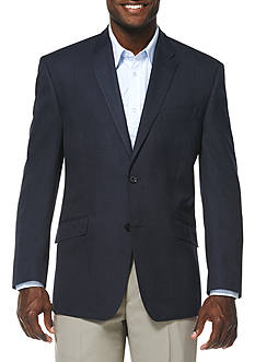 Savane Travel Intelligence Classic Fit Navy Heather Blazer