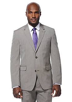 Savane Travel Intelligence Classic Fit Taupe Pinstripe Suit Separate Jacket