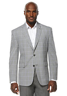 Savane Travel Intelligence Classic Fit Multi Color Micro Check Sport Jacket