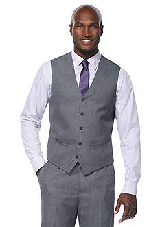 Savane Travel Intelligence Classic Fit Grey Sharkskin Suit Separate Vest