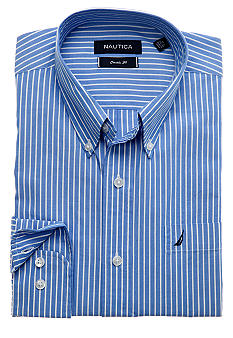 Nautica Ocean Wash Stripe Dress Shirt