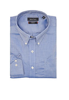 Nautica Big & Tall Herringbone Dress Shirt