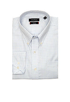 Nautica Big & Tall Twill Mini Check Dress Shirt