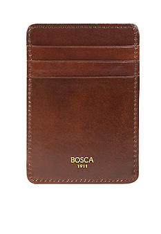 Bosca 'Accessories in Leather' Deluxe Front Pocket Wallet