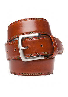 IZOD 1 1/2 in. Stitched Double Edge Leather Belt