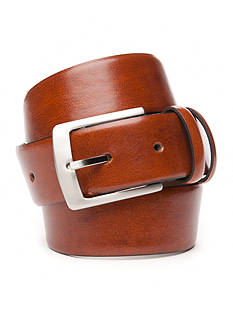IZOD 1 1/2 in. Double Keeper Smooth Feather Edge Leather Belt