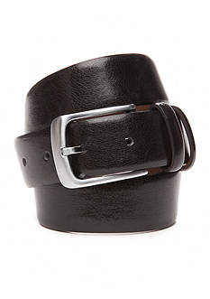 IZOD 1 1/2 in. Double Inset Stitch Leather Belt with Double Keeper