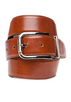 IZOD 1 1/2 in. Reversible Smooth Edge Stitched Leather Belt