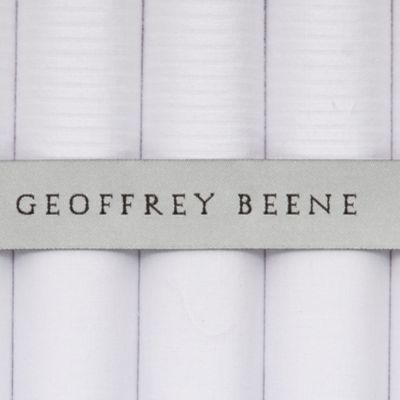 Young Men: Geoffrey Beene Accessories: White Geoffrey Beene 5-Pack Handkerchief