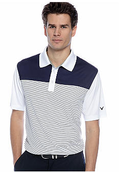 Callaway Golf Colorblocked Stripe Performance Polo