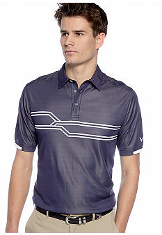 Callaway Golf Engineered Chest Patterned Jacquard Polo