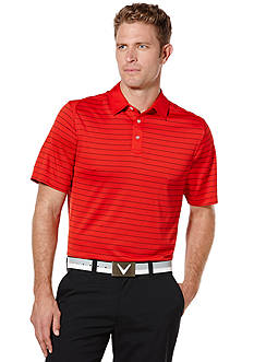 Callaway Golf Razr Mesh Stripe Short Sleeve Performance Polo
