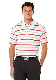 Callaway Golf Heather Fashion Stripe Polo Shirt